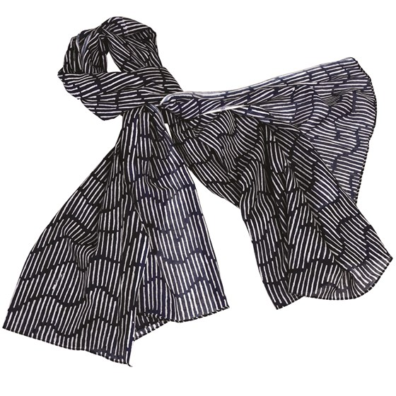 midnight waterfall cotton scarf