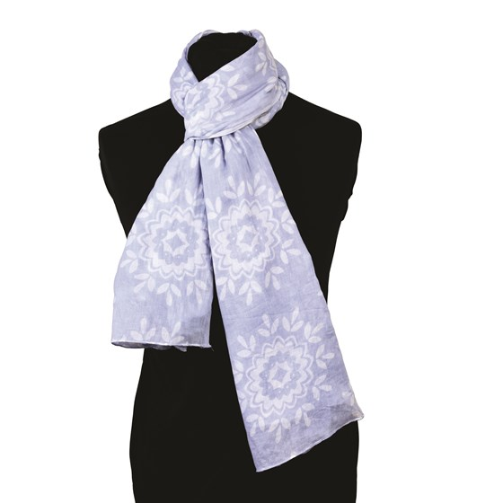 moroccan rose cotton scarf