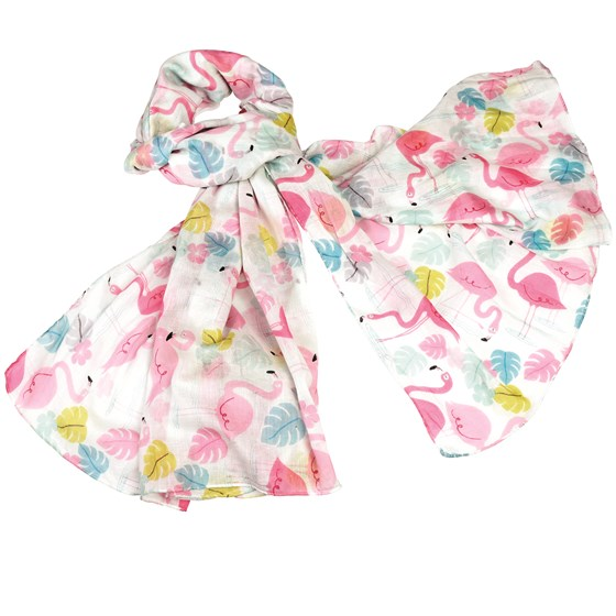 flamingo bay cotton scarf