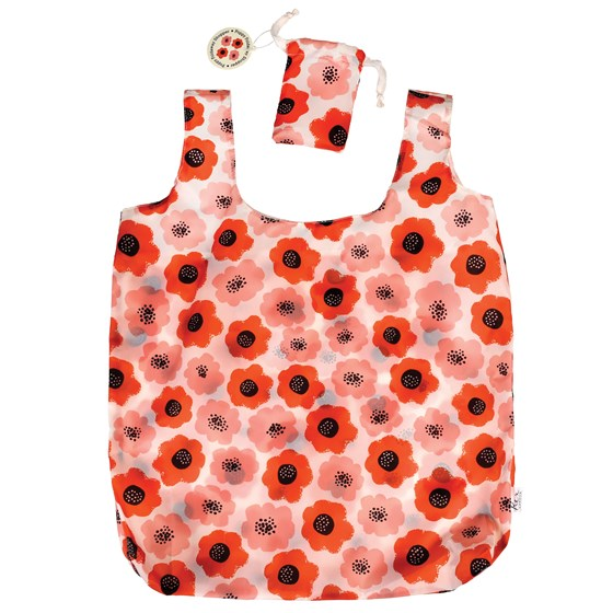 poppy foldaway shopping bag