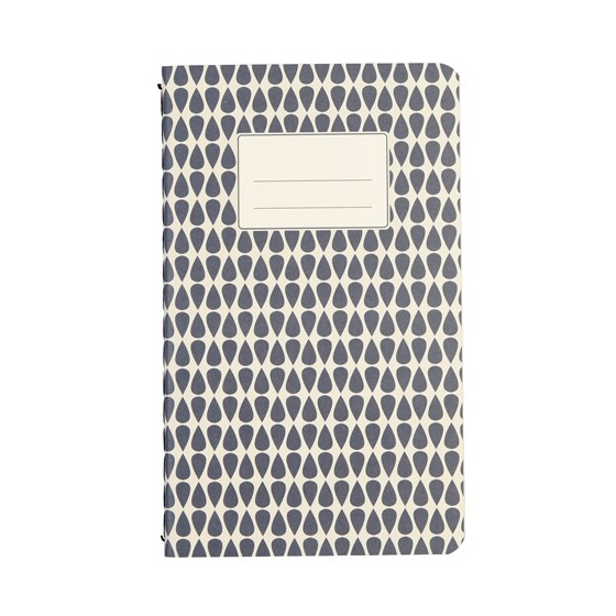 small blue abstract notebook