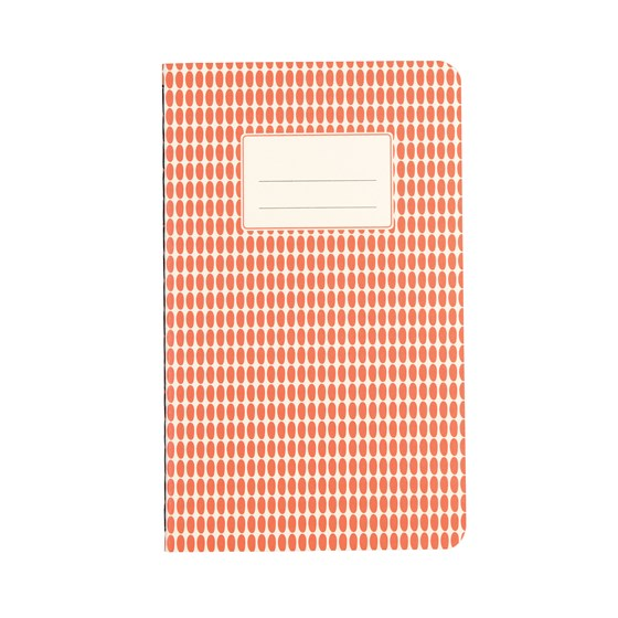 SMALL ORANGE ABSTRACT NOTEBOOK