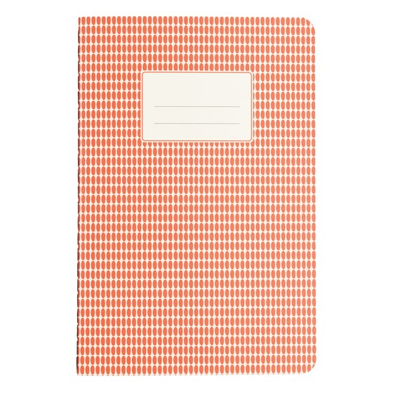 ORANGE ABSTRACT A5 NOTEBOOK