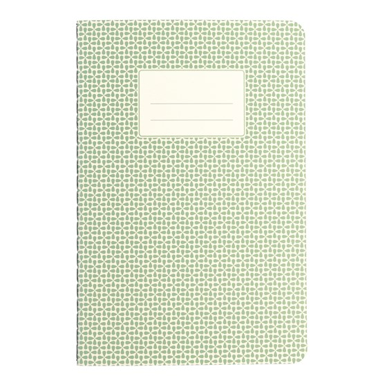 GREEN ABSTRACT A5 NOTEBOOK