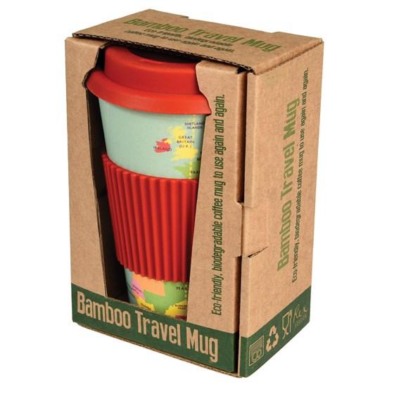 World map bamboo travel mug wholesale trade rex london world map bamboo travel mug gumiabroncs Image collections