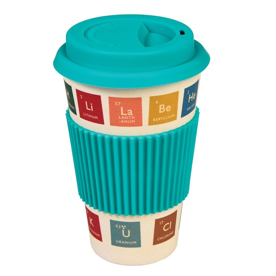 coffee-to-go-becher aus bambus im periodic table - design