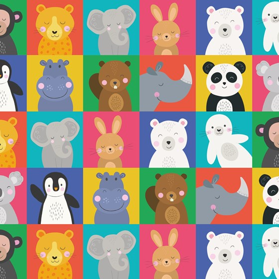 ANIMAL FRIENDS WRAPPING PAPER
