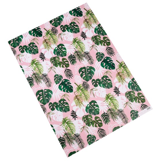tropical palm wrapping paper