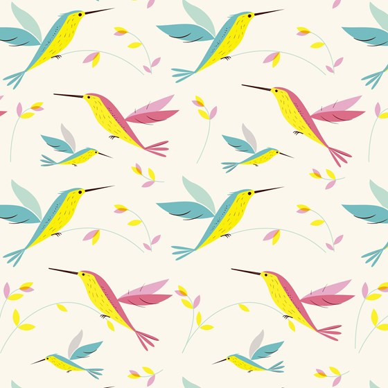 hummingbird wrapping paper