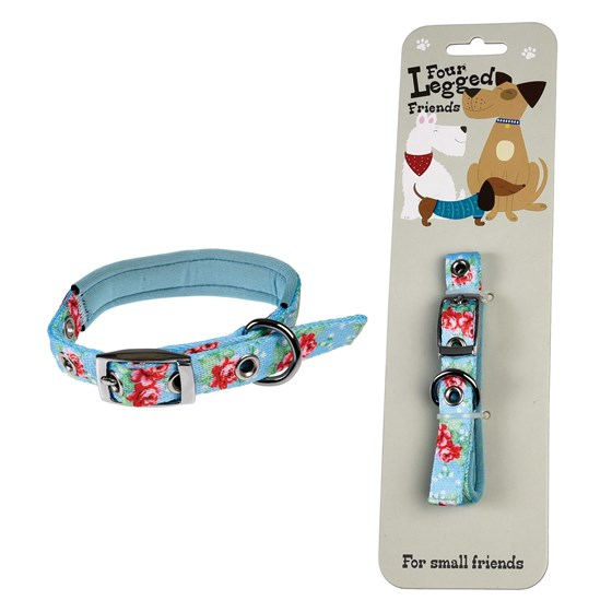 SMALL ENGLISH ROSE DOG COLLAR