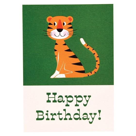 Animal Park Tiger Birthday Card Wholesale Trade Rex London