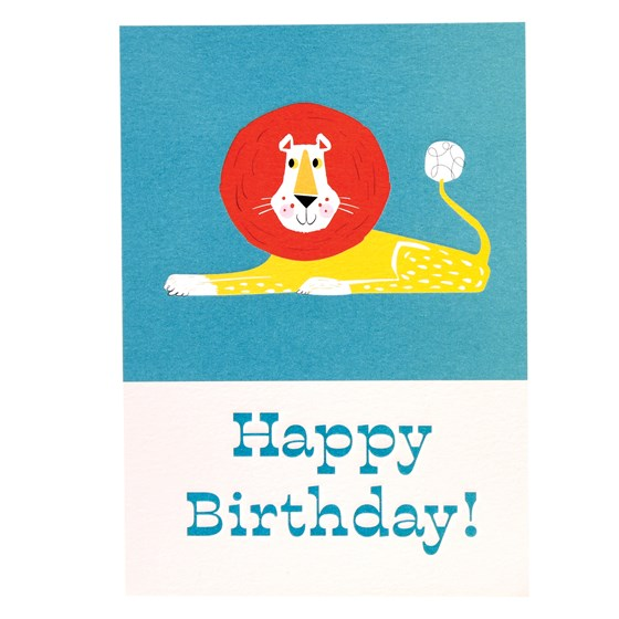 animal park lion birthday card