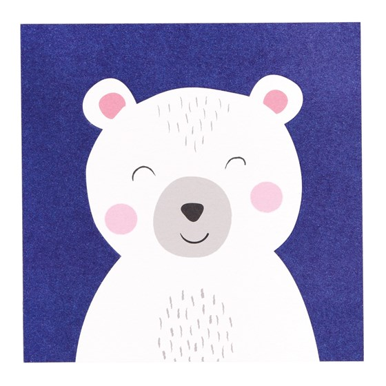 polar bear animal friend card