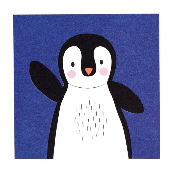 penguin animal friend card