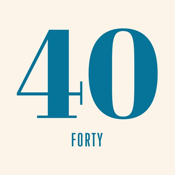carte anniversaire 40 forty