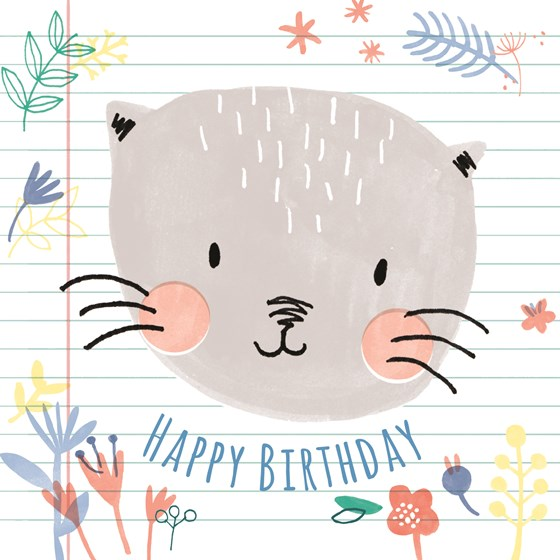 lilly the cat card