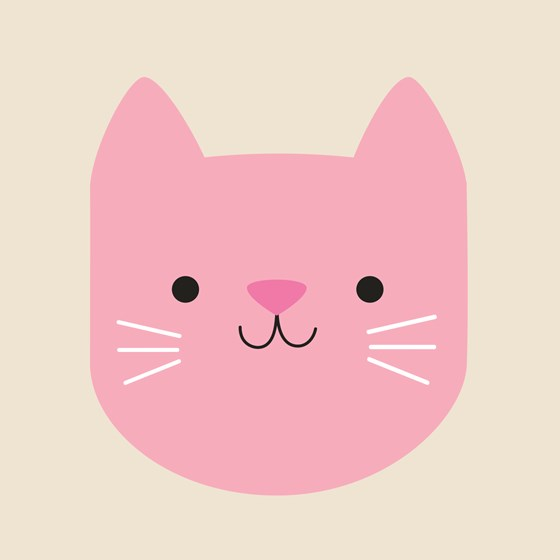 pink cookie the cat card