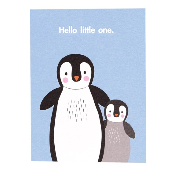 hello little one penguin card