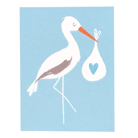 blue baby bundle stork card