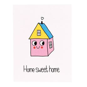carte de voeux home sweet home