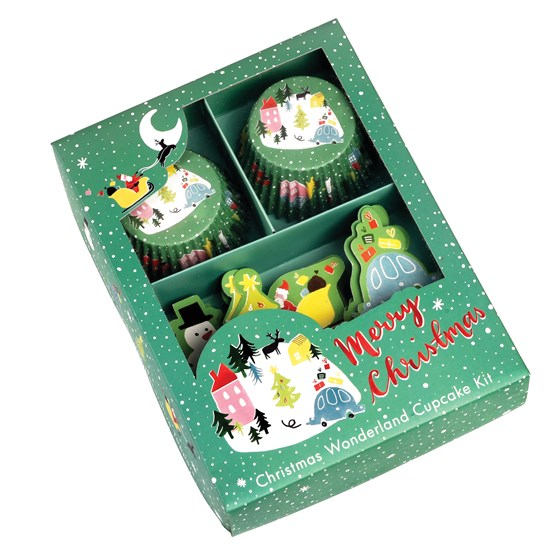 CHRISTMAS WONDERLAND CUPCAKE KIT