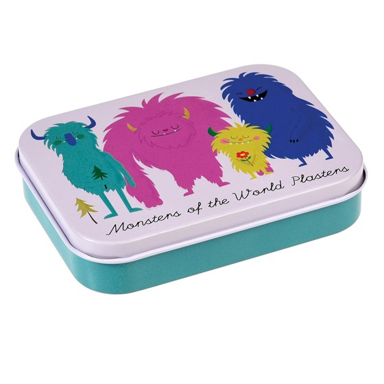 monsters of the world plasters in a tin