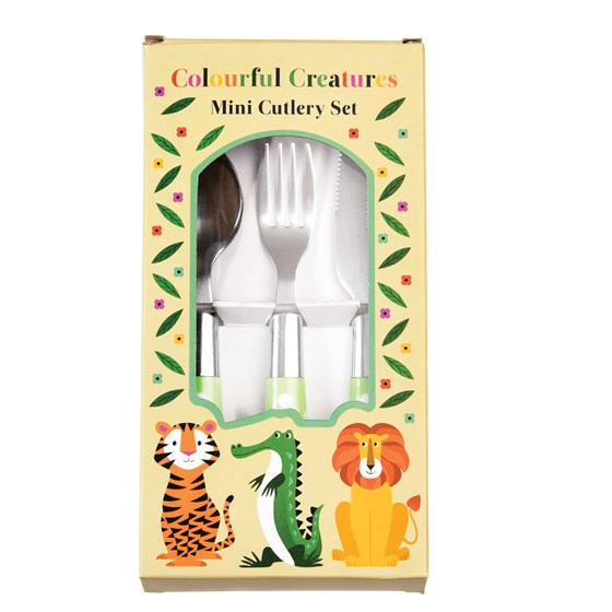"3teiliges besteckset für kinder ""colourful creatures"""