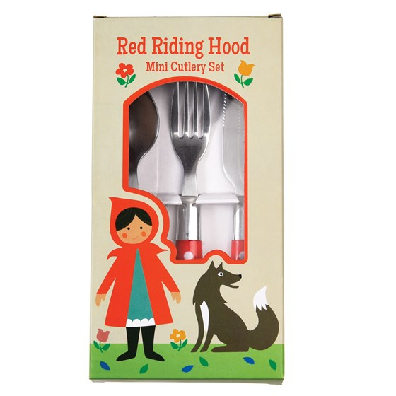 3teiliges besteck-set für kinder red riding hood