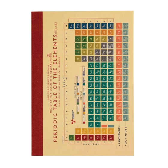 periodic table a6 notebook