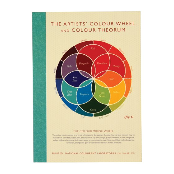 colour wheel a6 notebook