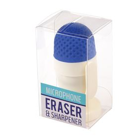 blue microphone rubber with sharpener