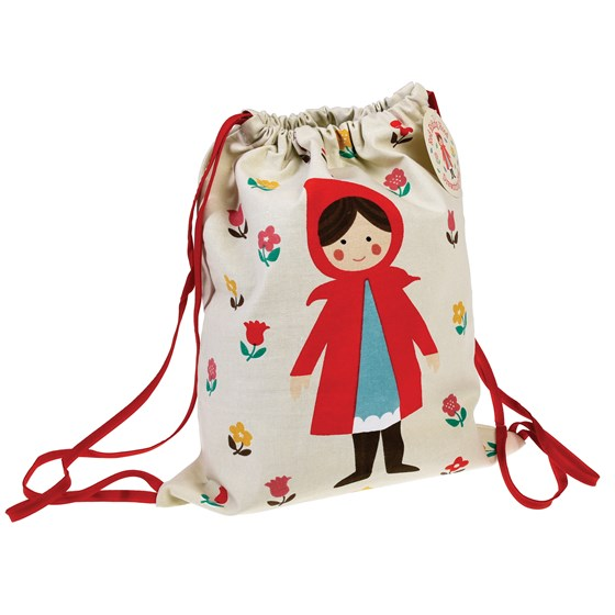 bolsa con cordón red riding hood