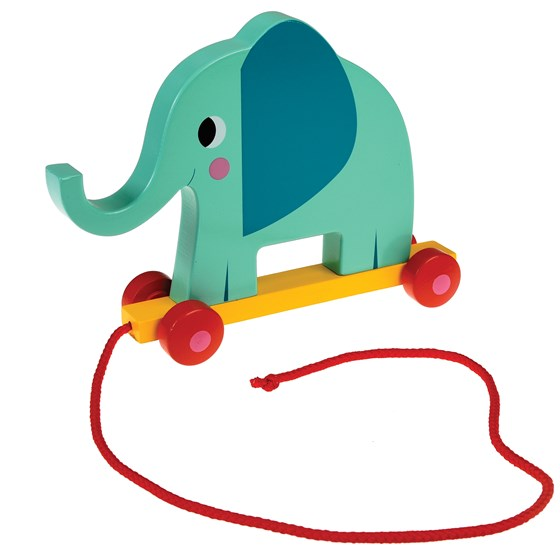 elvis the elephant wooden pull toy