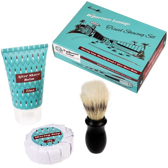 DEPARTURE LOUNGE TRAVEL SHAVING KIT