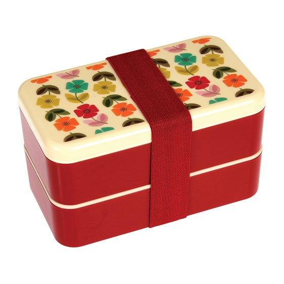 MID CENTURY POPPY ADULT BENTO BOX