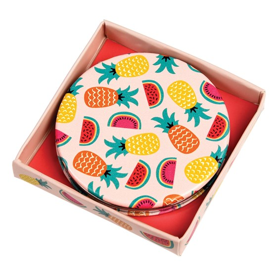 TROPICAL FRUITS COMPACT MIRROR