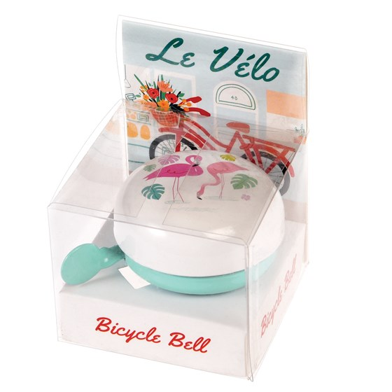 "sonnette de velo raditionnelle ""flamingo bay"""