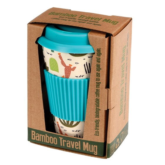 desert in bloom bamboo travel mug
