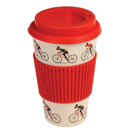 "coffee to go - becher aus bambus ""le bicycle"""