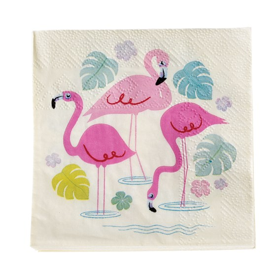 flamingo bay cocktail napkins (pack of 20)
