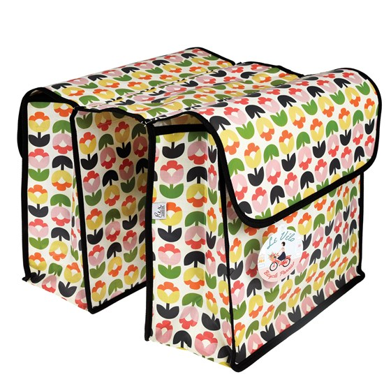 TULIP BLOOM BICYCLE PANNIER