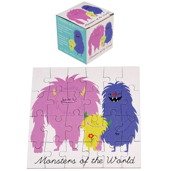 "24teiliges mini-puzzle ""monsters of the world"""