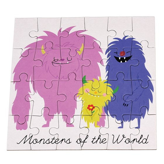 monsters of the world 24 piece mini puzzle