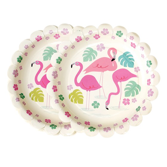 "pappteller ""flamingo bay"" (8er packung)"