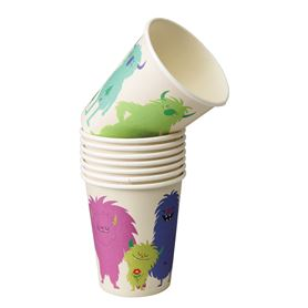 monsters of the world paper cups (set of 8)