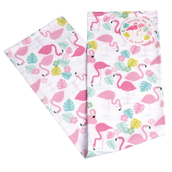 FLAMINGO BAY TEA TOWEL