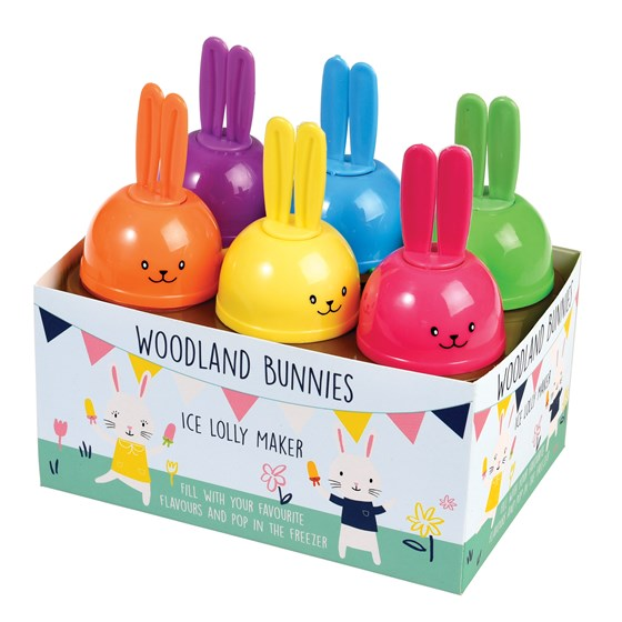 set of 6 woodland bunnies ice lolly makers