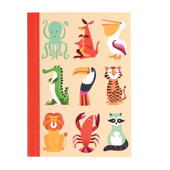 colourful creatures a6 notebook
