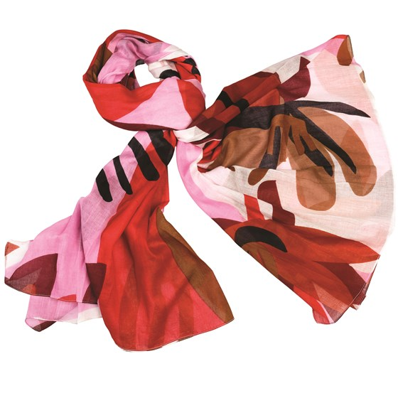 tulum red cotton scarf