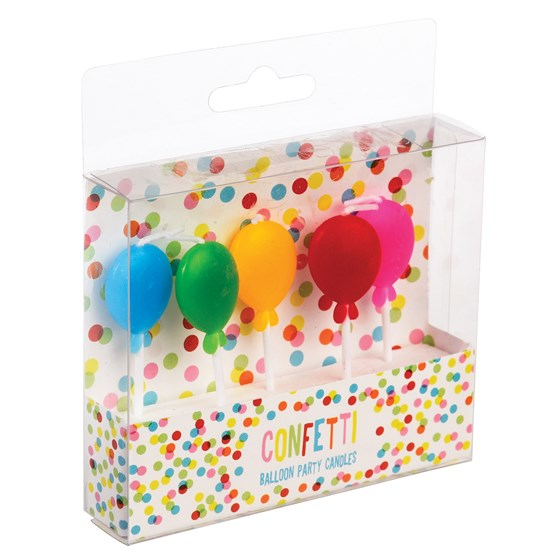 pack of 5 balloon shaped party candles